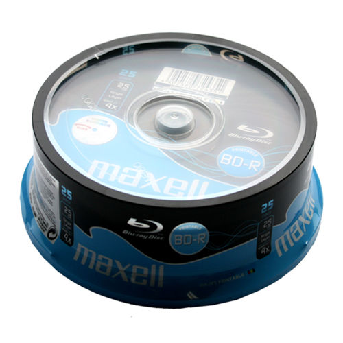 BD-R Blu-ray Maxell 25 GB 4x Printable, cake 25 ks, 276071