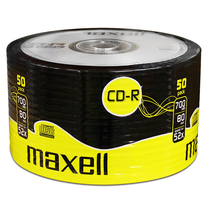 CD-R Maxell 700 MB, celofán 50 ks, 624036
