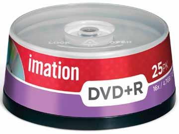 DVD+R Imation 4,7 GB 16x cake 25 ks, i21749