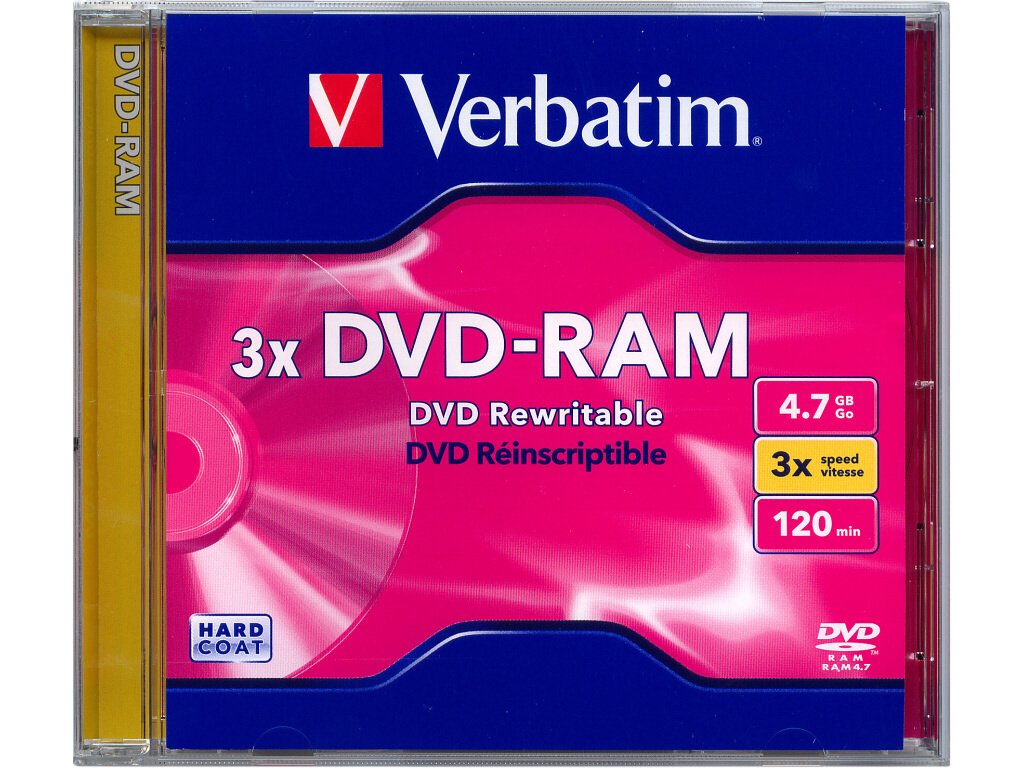 DVD-RAM Verbatim 4,7 GB 3x JWC box, 43450