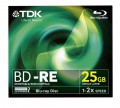BD-RE Blu-ray TDK 25 GB 2x, JWC box, t19794