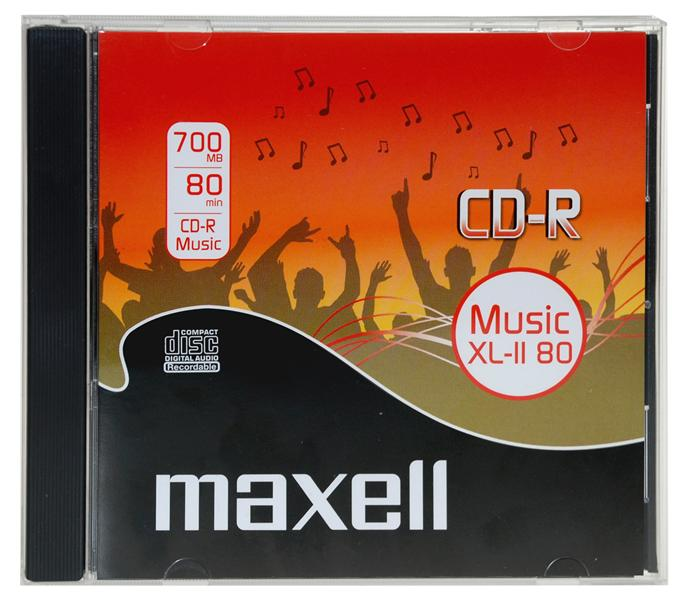 CD-R Maxell 700 MB Audio 80 min. JWC box