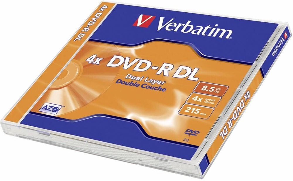 DVD-R Verbatim Double Layer 8,5 GB 4x, JWC box, 43542